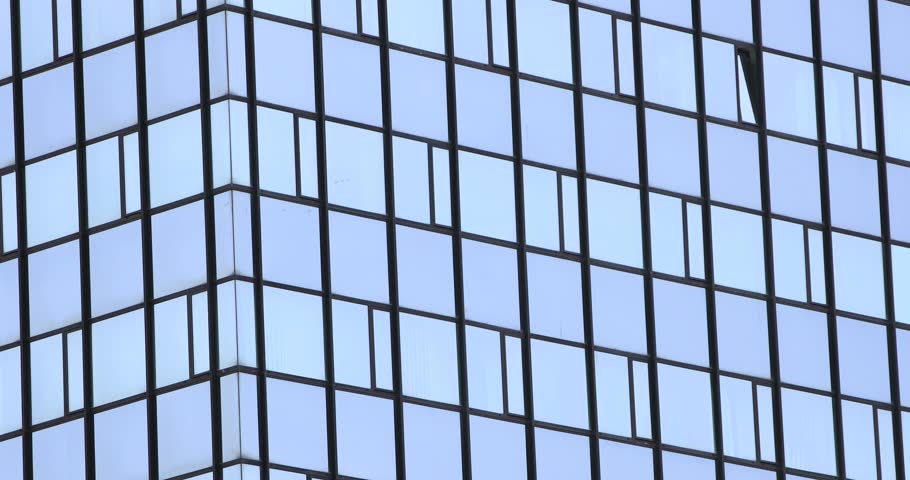 Close up footage of a modern building, the shot is moving from the bottom to the top... #1027804193