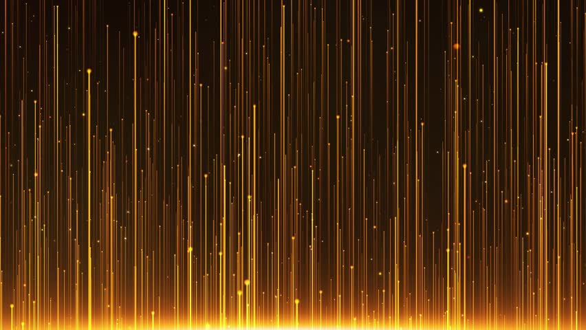 Golden particle light rising, golden luxury particle stripe background. Oscar awards gala show background video. | Shutterstock HD Video #1027831295