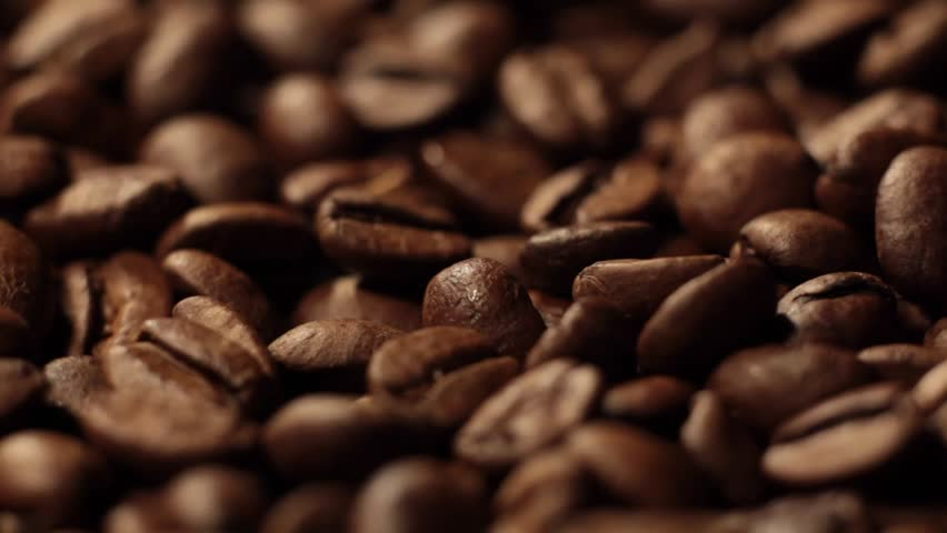 Coffee close up. Roasted coffee beans with. Coffee beans factory mixing. | Shutterstock HD Video #1027831886