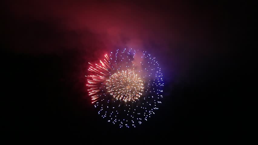 Fireworks display is a typical summer scene in Japan. | Shutterstock HD Video #1027844762