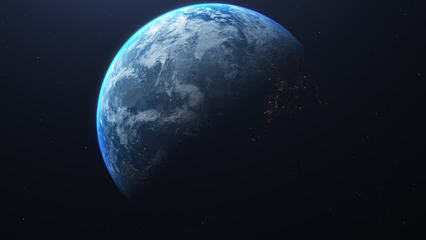 Close up from Planet Earth at night and day from the space. Time lapse of the rotation and city lights. Space exploration. | Shutterstock HD Video #1027849745