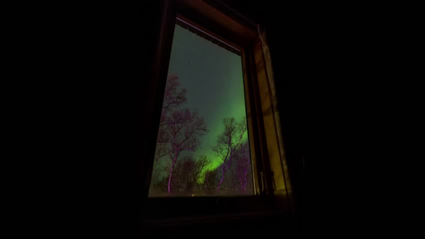 Northernlights in Tromso, Norway.Moving of northernlight is like dancing.