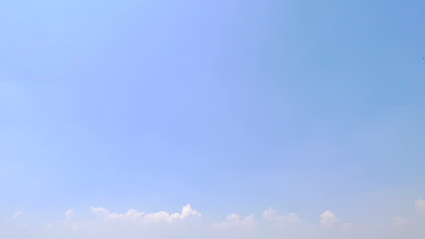 Time lapse white fluffy clouds on blue sky #1027943918