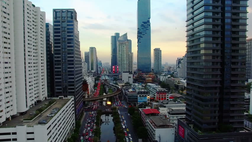 Bangkok by Drone Royalty-Free Stock Footage #1028000357