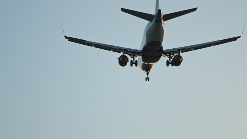 Airplane landing in LAX airport  | Shutterstock HD Video #1028006360