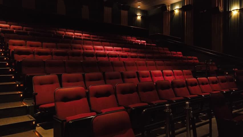 Empty movie theatre / Seats   Shutterstock HD Video #1028006477