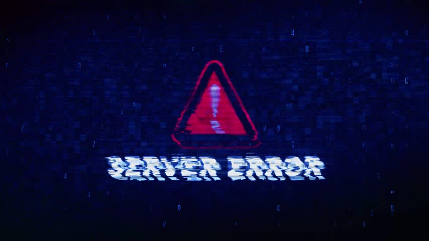 Server Error Text Digital Noise Glitch Effect Tv Screen Loop Background. Login and Password With System Error Security ,Hacking Alert , Cyber Crime Attack Computer Error Distortion Message . | Shutterstock HD Video #1028020979