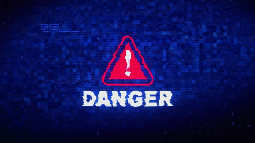Danger Text Digital Noise Glitch Effect Tv Screen Background. Login and Password With System Error Security ,Hacking Alert , Cyber Crime Attack Computer Error Distortion Message . | Shutterstock HD Video #1028021105