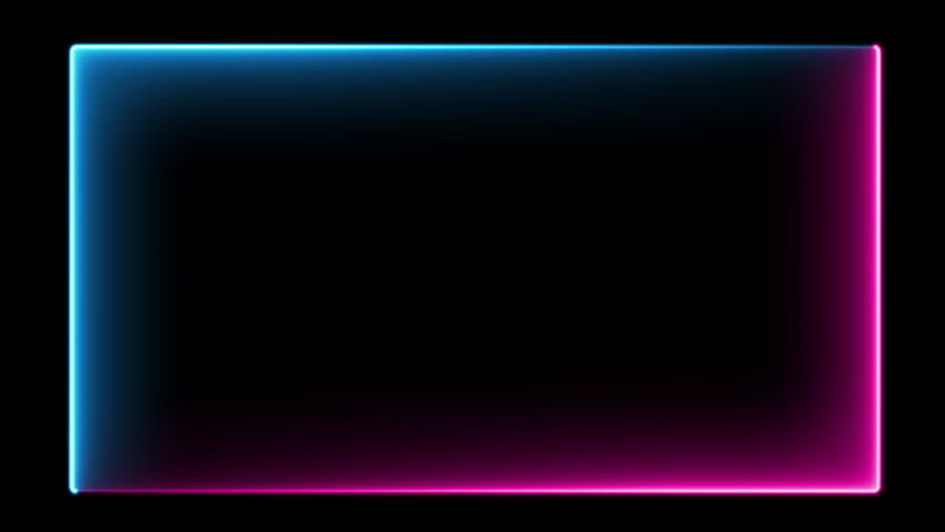 Abstract neon frame, fluorescent light. Loop animation. #1028029328