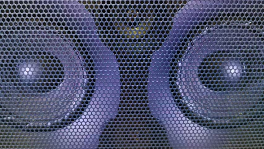 The led light goes on to the speaker's shaking beats   Shutterstock HD Video #1028042750