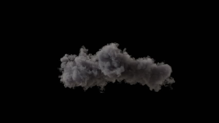4k cloud loop. beautiful fast billowing cloud isolated on black background with alpha, light rays shining through, popular compositing element | Shutterstock HD Video #1028154317