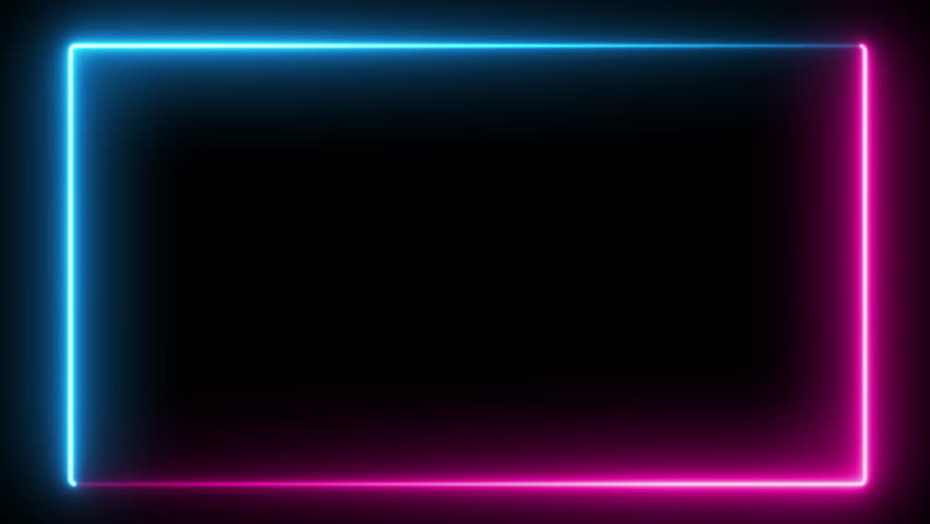 Abstract neon frame, fluorescent light. Loop animation. #1028165681
