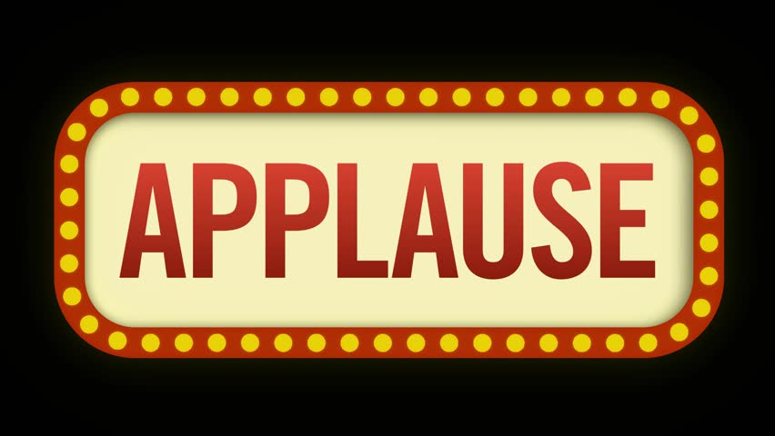 Applause sign flickering on and off to prompt the audience to clap | Shutterstock HD Video #1028194508