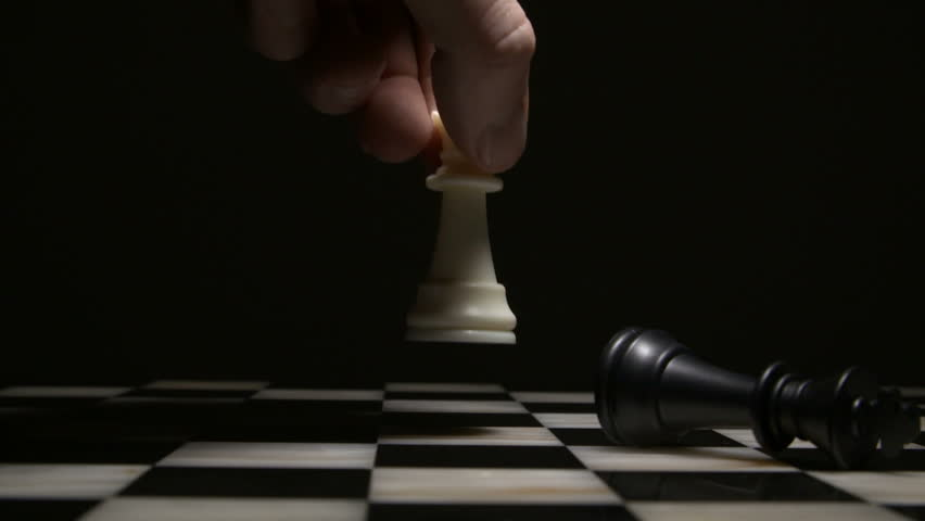 Chess board game. Close-up. Chess figures on a dark background.   Shutterstock HD Video #1028232899