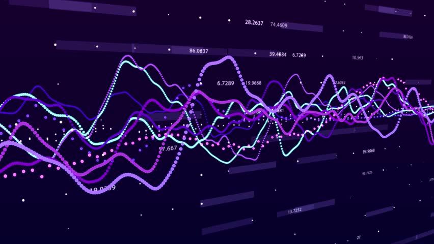 Stock market graph. Big data visualization. investment graph concept. 3d rendering. | Shutterstock HD Video #1028244482