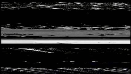 VHS Horizontal Video Glitches Background, Black screen