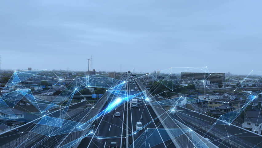 Transportation and technology concept. ITS (Intelligent Transport Systems). | Shutterstock HD Video #1028276756