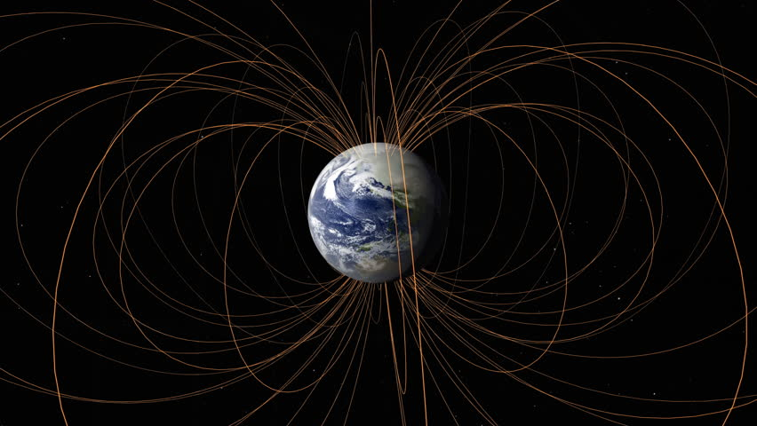 Earth magnetic field animation. Nasa Public Domain Imagery
