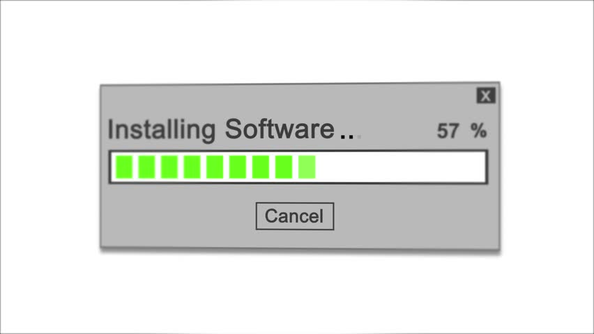 Installing Software Process Animation on white Background | Shutterstock HD Video #1028308472