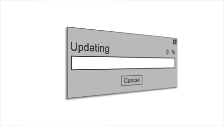 Updating Process Animation on White Background | Shutterstock HD Video #1028308511