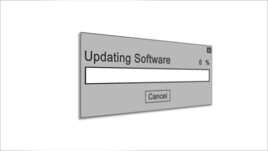 Updating Software Process Animation on White Background | Shutterstock HD Video #1028308517