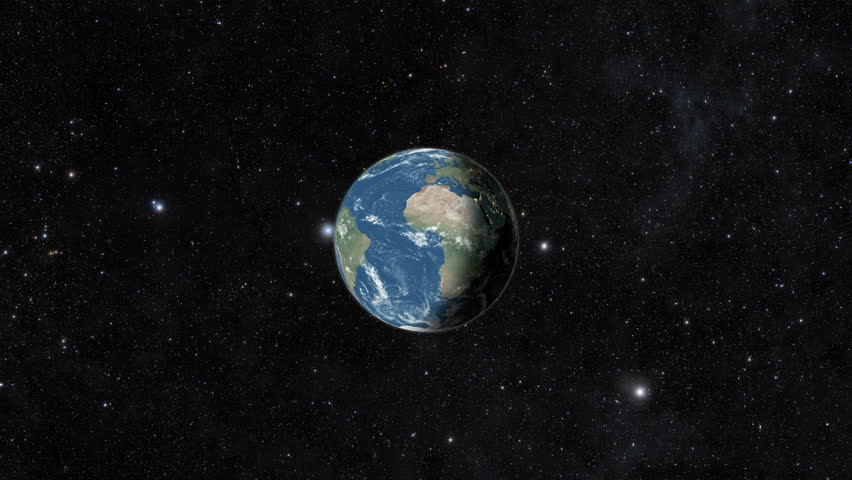 Planet earth from space. Day to night realistic world globe spinning slowly animation. Zoom in 30 Seconds 3D animation - full revolution of the planet around its axis. | Shutterstock HD Video #1028335241