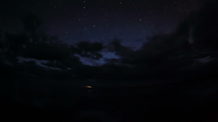 4K. Starry Night over the clouds over the salted lake Durgun Nuur, Mongolia. Ultra HD, 4096x2304 | Shutterstock HD Video #1028398880