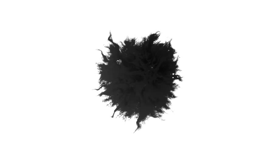 Ink Runs, Blots, 4K footage. Ink in water, Beautiful black watercolor ink drops transition on white background - ink effect, transparent, transition, chamber, isolated, with circle organic flow expand | Shutterstock HD Video #1028445572