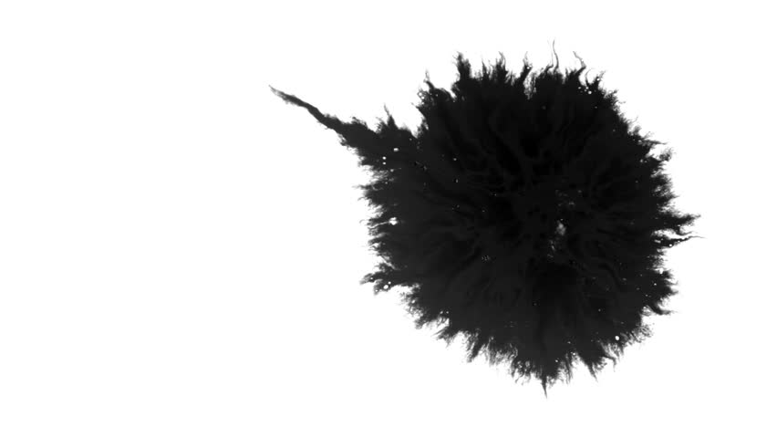 Ink Runs, Blots, 4K footage. Ink in water, Beautiful black watercolor ink drops transition on white background - ink effect, transparent, transition, chamber, isolated, with circle organic flow expand | Shutterstock HD Video #1028445602