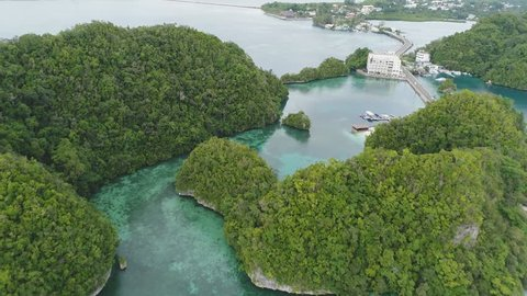 Summer of Koror, Palau Malakal Island.