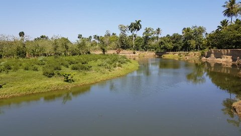 Tropical river in the dominican republic