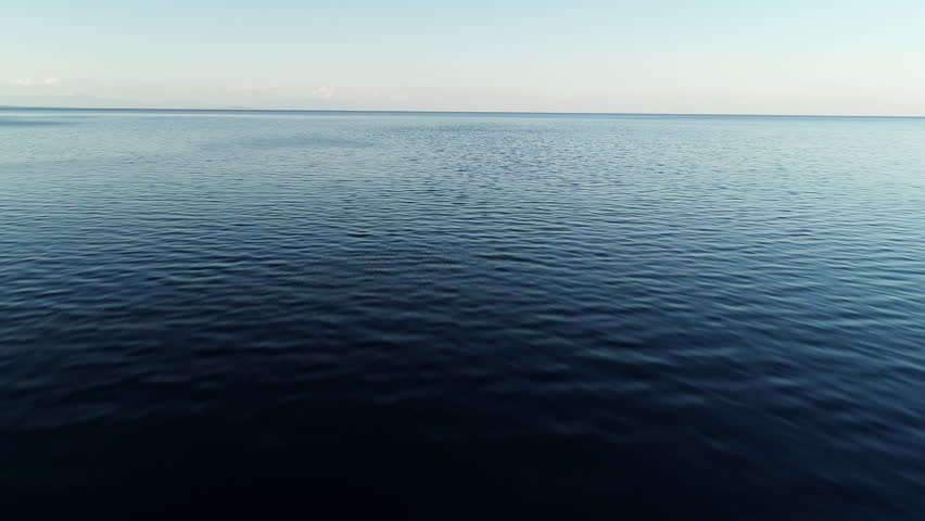 Flying over blue waters and a seagull passes through the shot | Shutterstock HD Video #1028504846