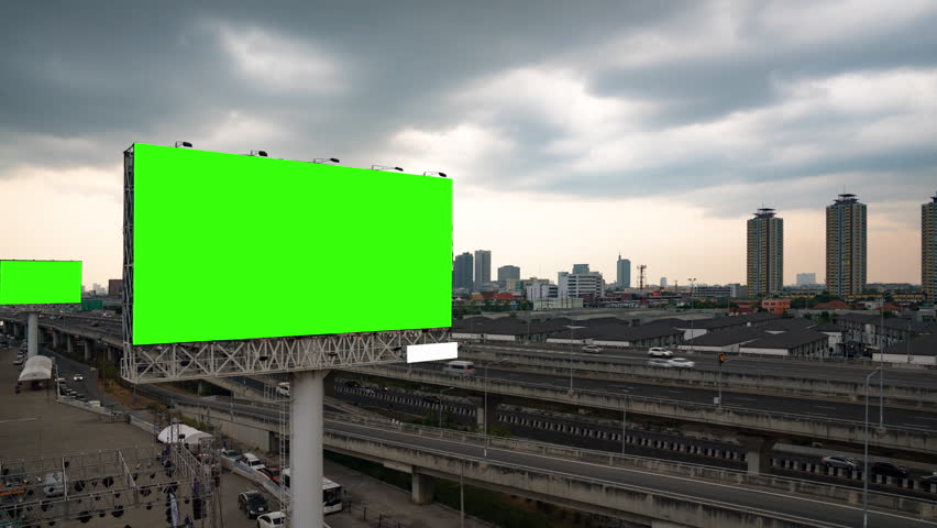 Blank template for outdoor advertising | Shutterstock HD Video #1028512229