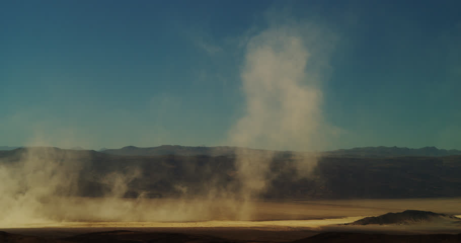 Dust Storms, or haboob, gain in strength as they move through Death Valley during the intense heat of the desert summer.