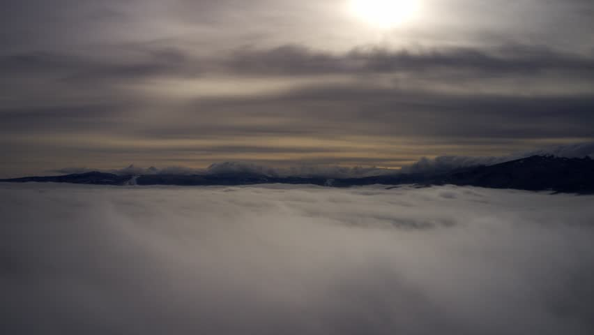 Above the clouds timelapse .