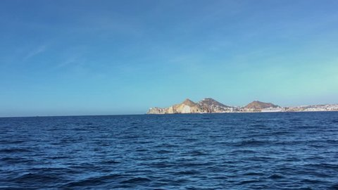 View of Cabo San Lucas From the Pacific Ocean on a Beautiful Clear Day
