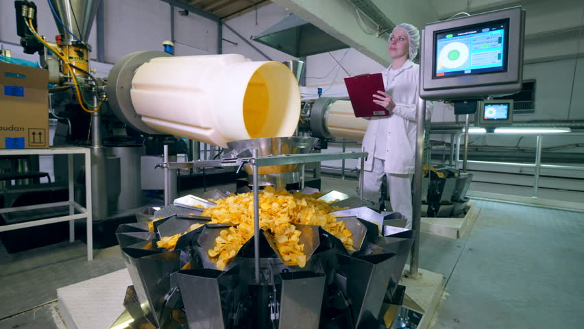Chips distribution process supervised by a lady professional | Shutterstock HD Video #1028601674