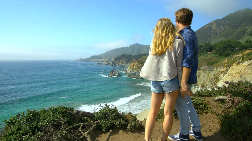 Couple at Vista Point in Big Sur | Shutterstock HD Video #1028612852