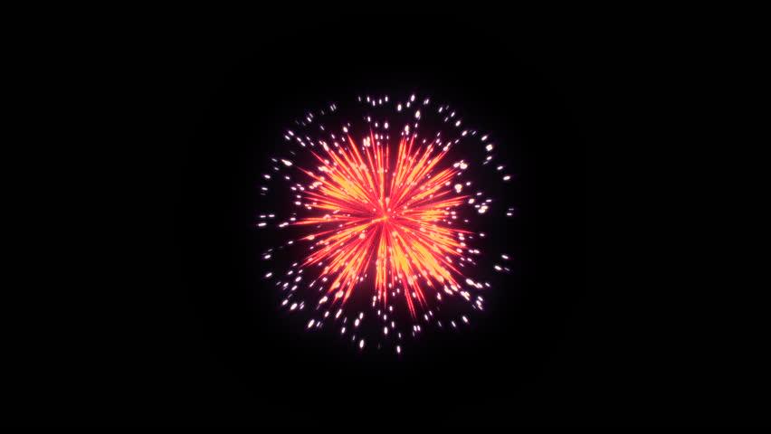 3D Abstract. Realistic animation Firework Colorful.