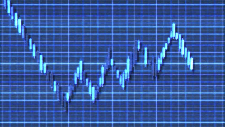 4K Bear Flag Sci-Fi Stock Chart Pattern