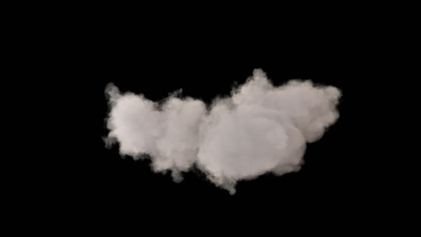 4k cloud loop. beautiful fast billowing cloud isolated on black background with alpha, light rays shining through, popular compositing element | Shutterstock HD Video #1028663423