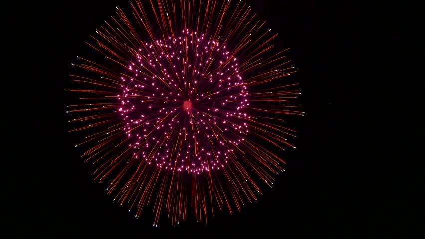 Fireworks in the night sky | Shutterstock HD Video #1028733767