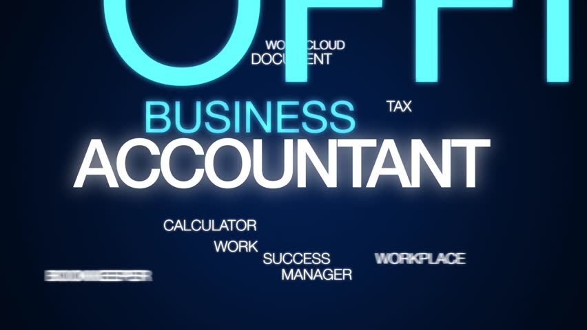 Accountant animated word cloud. Kinetic typography. | Shutterstock HD Video #1028748449