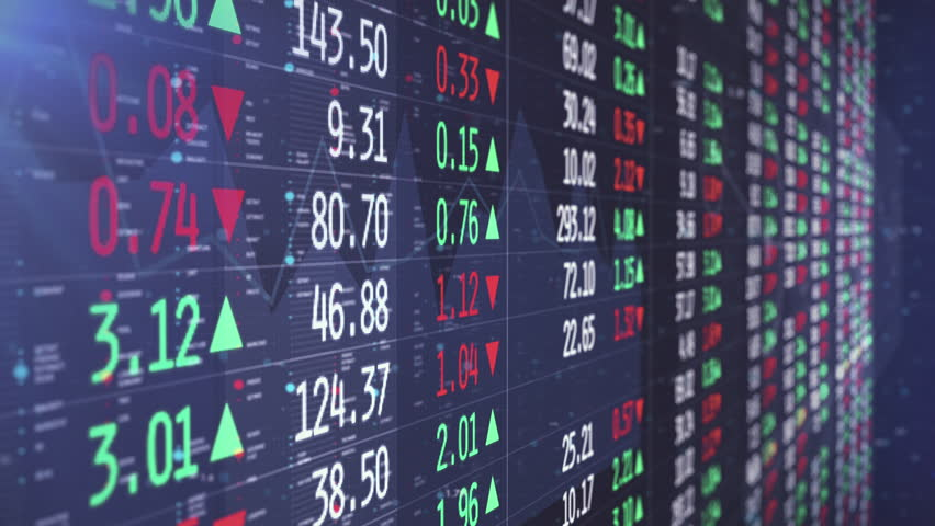 Shares Are Traded In The Stock Exchange While Showed On Different Layered Panels With Graphs And Charts | Shutterstock HD Video #1028802764
