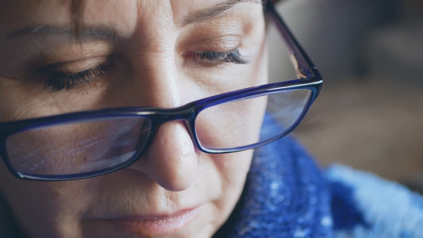Woman with stylish glasses for a good view. attractive business woman with glasses. close-up | Shutterstock HD Video #1028835737