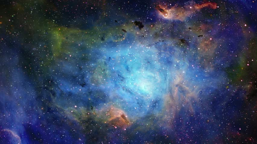 Flying into the cosmic nebulae of the infinite universe 6 | Shutterstock HD Video #1028866559