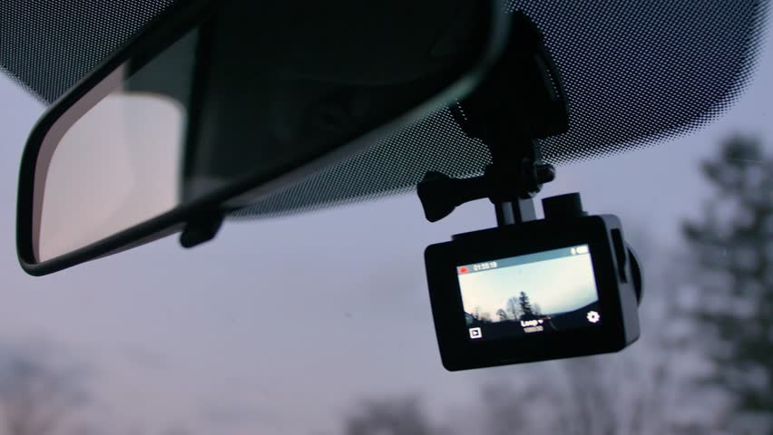 Dashcam Recording Road in Front of Driving Vehicle in the Evening | Shutterstock HD Video #1028917547