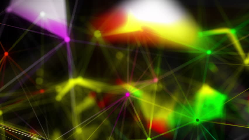 Abstract Polygonal Space Background with Connecting Dots and Lines. 3d rendering   Shutterstock HD Video #1028953760