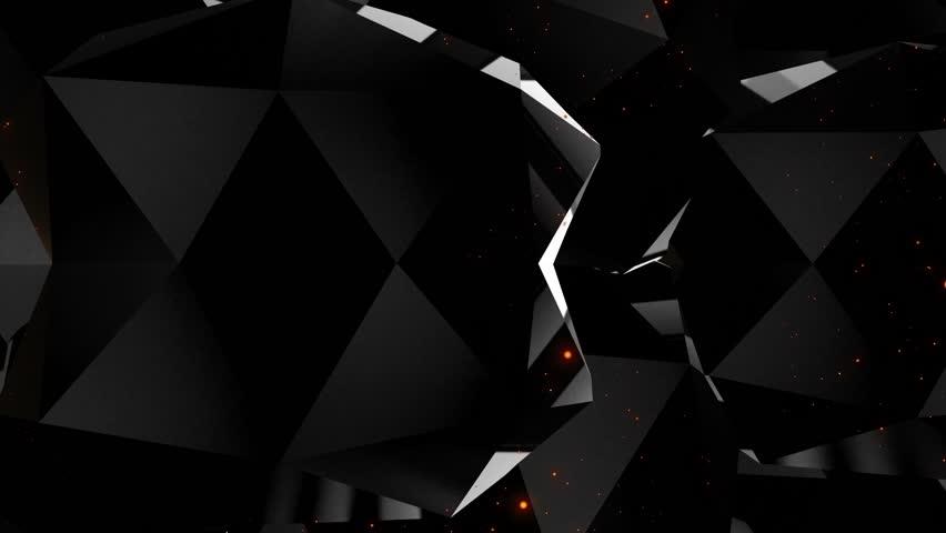 Dark black background diamonds edges seamless loop | Shutterstock HD Video #1028955827