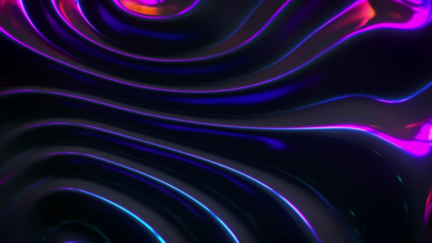 Wavy dynamic surface. Abstract background with neon wave ripples. Motion design template. 3d loop animation. Composition with topography relief. 4K UHD | Shutterstock HD Video #1028986559
